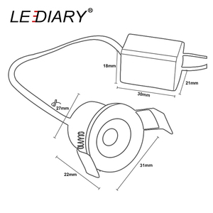 LEDIARY 10 шт./лот 90-260 В Белый Мини светодиодный светильник Кабинета светодиодный прожектор 1,5 Вт 27 мм для дисплея ювелирных изделий потолочный встраиваемый светильник