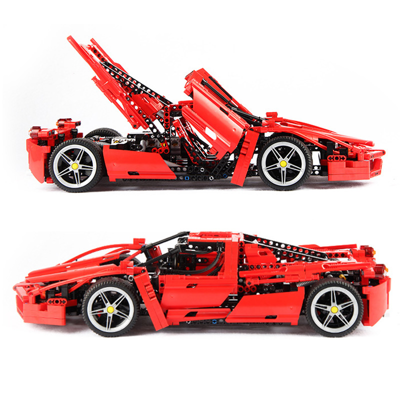 1359pcs Racers Ferrared Enzo Super Car 1:10 Scale Sports Car Enzo Set Fit 8653 Technic Lepining Building Blocks Bricks Toys