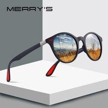 MERRYS Uomini di DISEGNO Delle Donne Classic Retro Rivet Occhiali Da Sole Polarizzati TR90 Gambe di DESIGN Più Leggero Cornice Ovale UV400 Protezione S8126