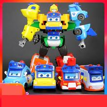 Ant Variety School Bus Child Car Boy Deformation Robot Toy Goethe Fire Fighting Six-in-One