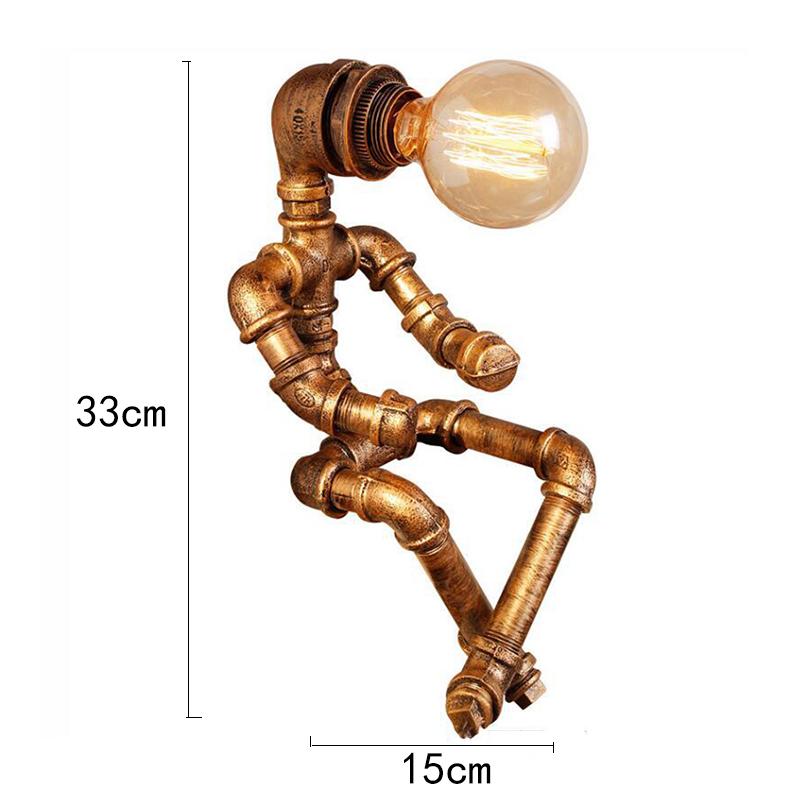 Промышленный робот настольная лампа в стиле ретро водопровод