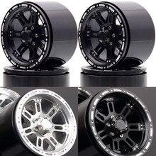 "Novo enron 4 pçs roda de metal jantes hub 2.2 ""apto para rc rock crawler axial wraith yeti scx10 rr10 trx4 TRX 4 km2 90045 90031 90020"