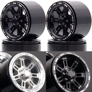 "Image 1 - Novo enron 4 pçs roda de metal jantes hub 2.2 ""apto para rc rock crawler axial wraith yeti scx10 rr10 trx4 TRX 4 km2 90045 90031 90020"