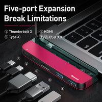Baseus USB C HUB to Multi HDMI-compatible USB 3.0 USB HUB for MacBook Adapter Accessories Pro TB 3 SD Card Reader Type-C USB HUB