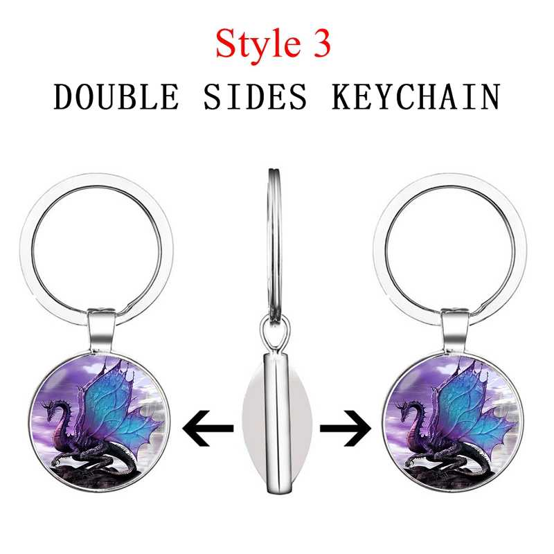 เรืองแสงใน Dark Dragon พวงกุญแจ Steampunk มังกรพวงกุญแจของขวัญทำด้วยมือสำหรับชายสำหรับ Women เครื่องประดับ
