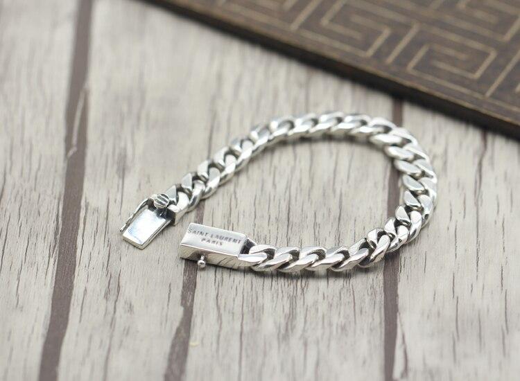 2017 s925 argent sterling nouveau bracelet Simple et généreux populaire rétro tressé bracelet style classique envoyer un cadeau à l'amour - 3