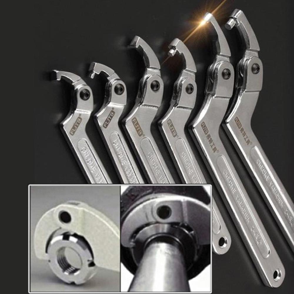 Многофункциональный регулируемый гаечный ключ с квадратной головкой и круглой головкой из хром-ванадия, инструменты для ручного инструмен...