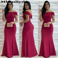 Mbcullyd Strapless Fuschia Prom Dresses 2020 Mermaid Long Sexy Backless Formal Evening Dress For Women vestido de formatura
