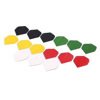 15 Pcs(5Colors Each 3PCS) Dart Flights Fin Tail Nice Dart Flight Dart Accessories Dardos Replacements image