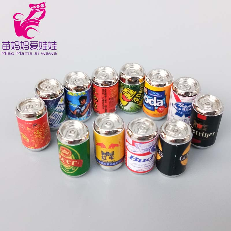 1/8 1/12 BJD Doll House Accessories Canned Mini Drinks Beer camera for Barbie Doll Blythe Doll Ob11 Diy image