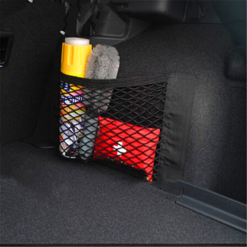40*25CM Car Trunk Box Storage Bag Mesh Pocket Sticker Trunk Organizer For Opel Astra H G J Insignia Mokka Zafira Corsa Vectra