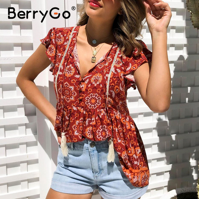 Bohemian tank top women summer shirt Tassel red feminina boho sexy top