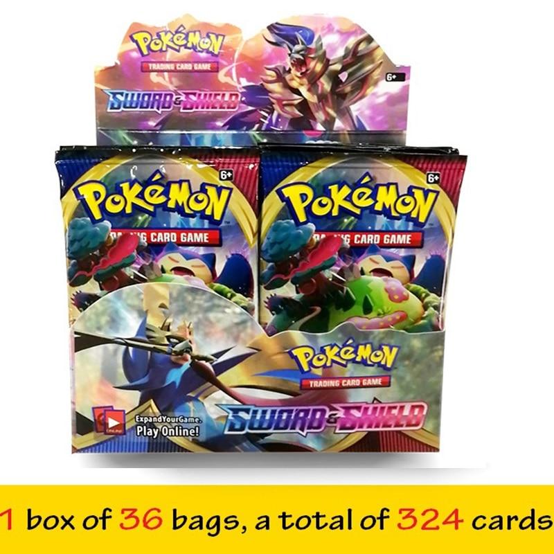 324Pcs English GX Tag Team Shining TAKARA TOMY Pokemon Cards English Game Battle Carte Trading Cards Game Children Toy
