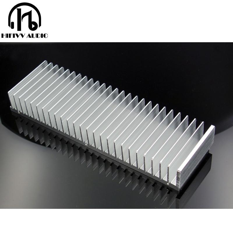 DIY radiator Aluminum heatsink Extruded heat sink for amplifier Electronic heat dissipation cooling cooler 263x80x40mm