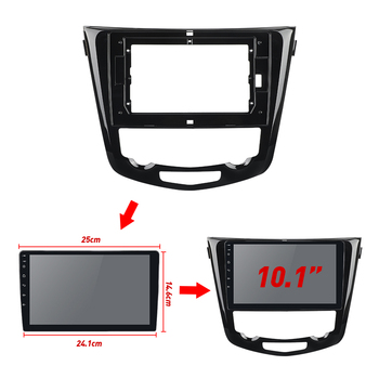 2Din Car Radio Fascia Frame Fit for X-Trail X Trail 3 T32 Qashqai 1 J10 2013-2017 Android GPS Panel Dash Frame Kit image