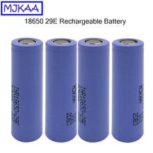 MJKAA 2pcs Original 18650 2900mAh Flat Head Battery 3.7V Rechargeable Li-ion Batteries for Power Bank Flashlight Battery 18650 стоимость