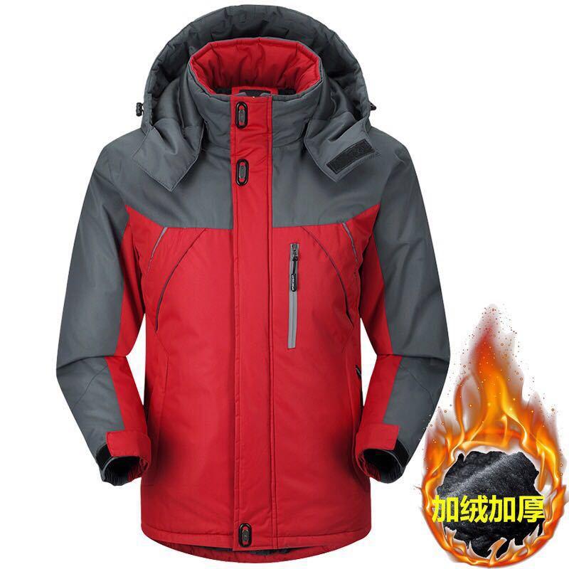Осенняя и зимняя мужская спортивная куртка, плюс размер, Повседневный плащ, мужская куртка, плюс бархат, толстая, теплая, на открытом воздухе, Ветроустойчивая