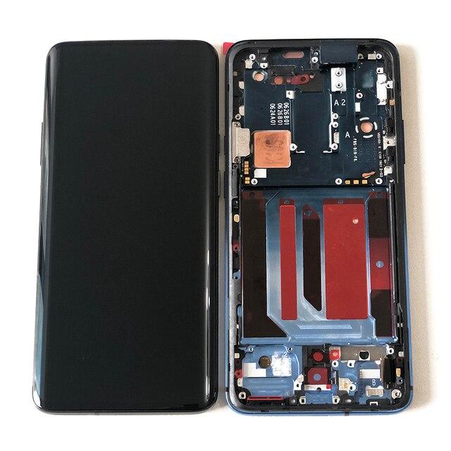 "6.67 ""Original Supor Amoled M & SenFor OnePlus 7 Proหน้าจอLCD + Digitizerแผงสัมผัสสำหรับoneplus 7T Pro LCD"