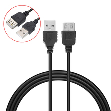 цена на USB Extension Cable 70cm Male to Female USB 2.0 Extender Cable Black USB Extension Charging Data Cable Cord