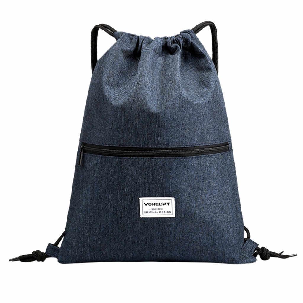حقيبة شاطئية أجهزة لياقة خارجية الرياضة حقيبة حزمة جيب للجنسين الرباط حقيبة على ظهره سحاب عازل للماء النساء على ظهره المد حقيبة