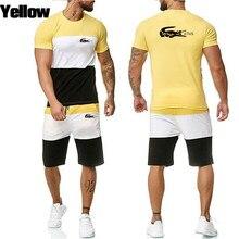 Men's sportswear, Shorts Set, short sleeve shirt and shorts, casual men's sportswear, fitness wear, sportswear 2021 9 orders