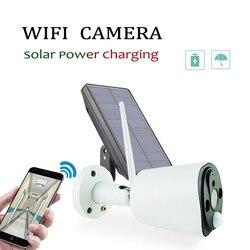 AAAE Top-1080P Solar Power Camera 2MP Wireless Wifi Security Surveillance Waterproof Outdoor Camera IR Night Vision Solar Power
