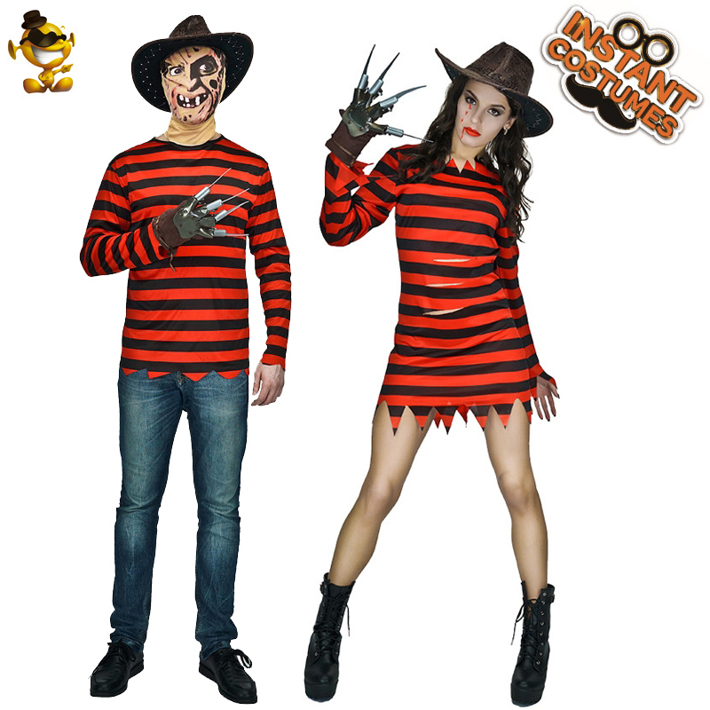 Freddy Killer Costumes For Adult Halloween Costume Role Play Men Killer Freddy Clothes Costumes Dress Up Women Dress