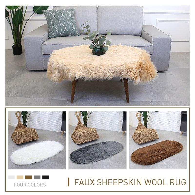 Tapis laine Ellipse sol luxueux tapis sol moelleux tapis 180X100cm multicolore chambre chaise canapé maison tapis salon