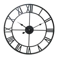 Iron Pendant Clock Simple Personality Creative Fashionable Living Room Modern Cafe Silent Retro 20 Inch Metal home Decoration