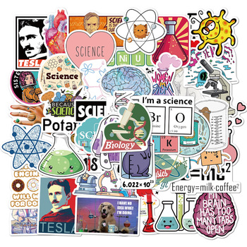 50PCS/lot Science Experiment Chemical Programming Stickers DIY For Laptop PC Phone Suitcase Stationery Waterproof Sticker - discount item  50% OFF Classic Toys