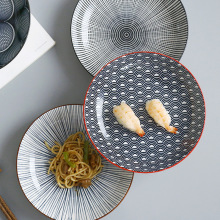 Креативное японское 8 дюймов блюдо для риса керамическое подглазое с десертная тарелка Скандинавское Простое домашнее блюдо для стейков блюда для завтрака