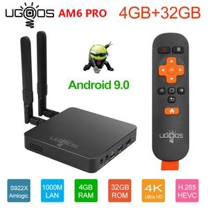 Image 2 - UGOOS AM6 Plus Amlogic S922X J 2.2GHZ TV BOX Android 9.0 4GB DDR4 32GB Smart TV BOX AM6 Pro S922X WiFi 1000M Set Top Box 2G 16G