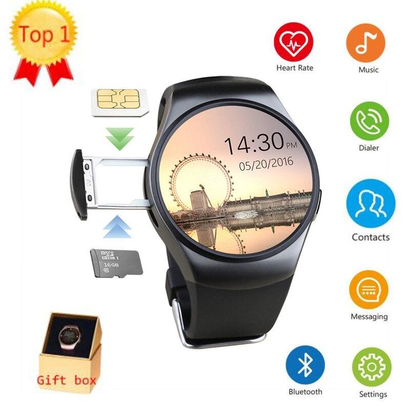 KW18 Bluetooth Call Smart Watch Women Men With 2G Sim Card Sport Smartwatch Phone Heart Rate For Samsung Gear S3 Huawei Watch 2