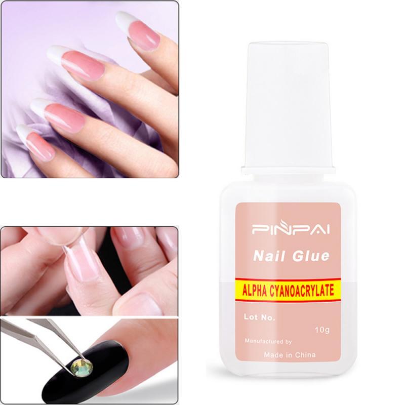 10g Клей для ногтей с помощью щеточки для ногтей, естественно, легко наносится, инструменты для ногтей Nail Art Красота Nail Art Ложные ресницы клей ...