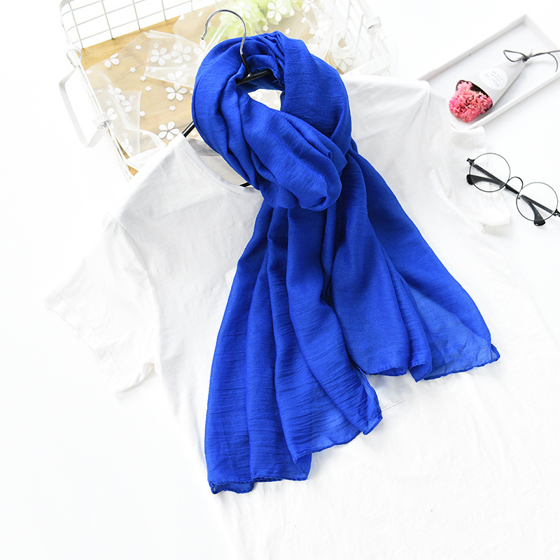 Bo Le Solid Color Desert Ultra Large Ethnic-Style Shawl Holiday Beach Towel Sun-resistant Gauze Kerchief Cotton Linen Travel Sca
