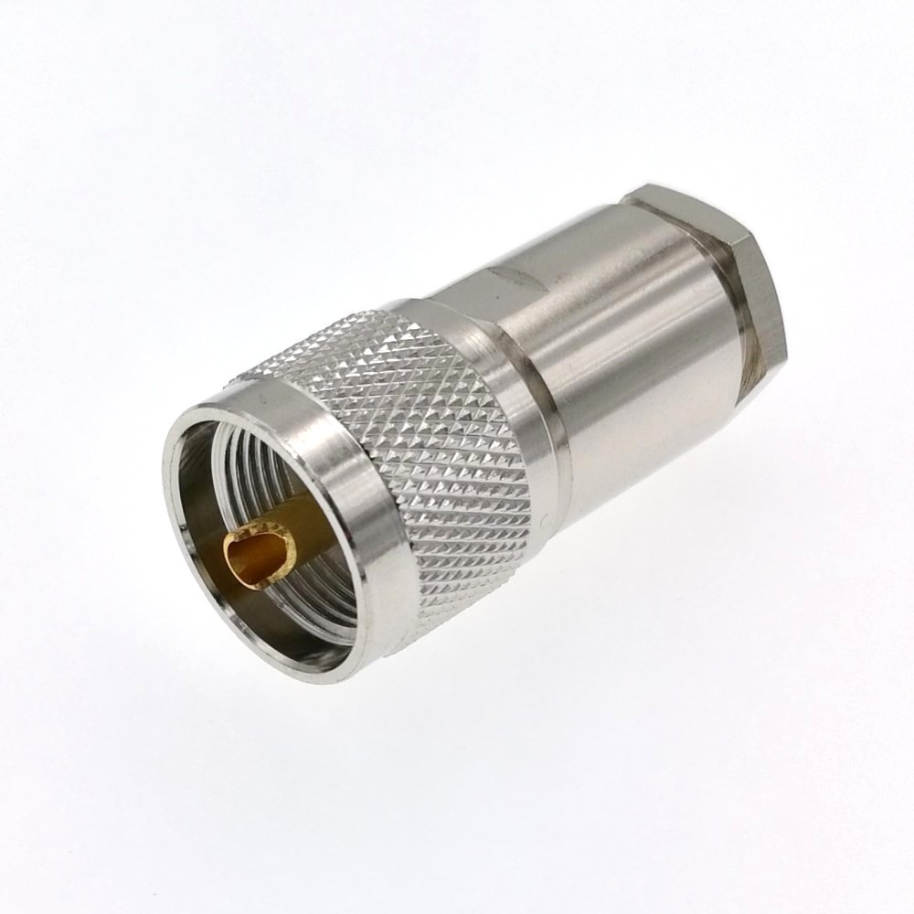 USA-CA RG142 UHF Male Angle to SMA MALE Coaxial RF Pigtail Cable