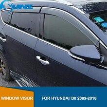 Auto tür visier Für HYUNDAI I30 2009 2018 Fenster visier Für HYUNDAI I30 2009 2010 2011 2012 2013 2014 2015 2016 2017 2018 SUNZ