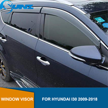 Car door visor For HYUNDAI I30 2009 2018  Window visor For HYUNDAI I30 2009 2010 2011 2012 2013 2014 2015 2016 2017 2018 SUNZ