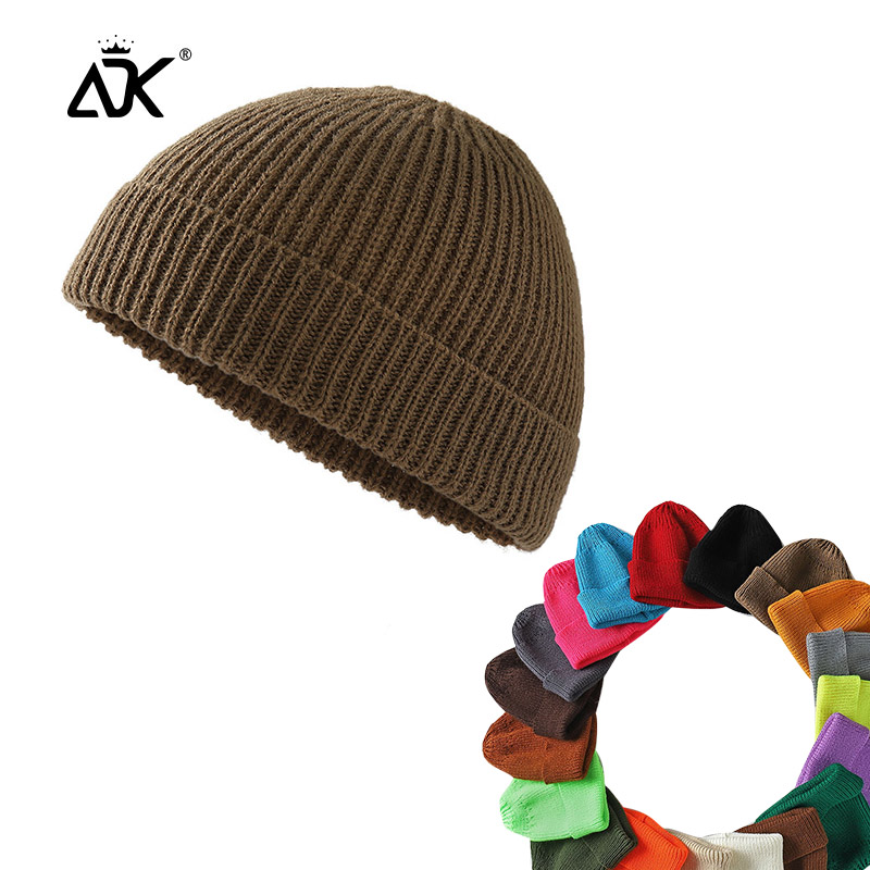 Short Hats Fashion Men Decal Casual Knitted Cap Winter Hip Hop Acrylic Sailor Cap Autumn Winter Beanies