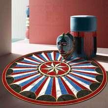 Модный Ретро Европейский красный черный и синий щит геометрический