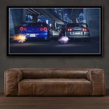 Cadre d'art mural GTR R34 VS, peinture sur toile moderne, impression HD pour affiche de décoration de maison de salon
