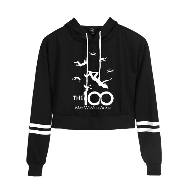THE 100 THEMED CROP TOP HOODIE (25 VARIAN)