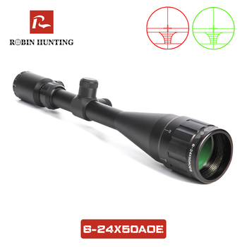 Hunting Riflescope 6-24x50 AOE With 11mm/20mm Rail Mount Red & Green Illuminated Optical Sight For Hunt Tratical Rifle Scope discovery hunting riflescope vt z 4x32 short economy air rifle riflescope with free scope mount