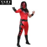 new Halloween Kane Costumes WWE Super Star Costume Cosplay celebrity party ball Stage performance clothes Adult Jumpsuit