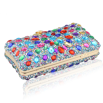 Diamond Crystal Candy Colored Clutch  5