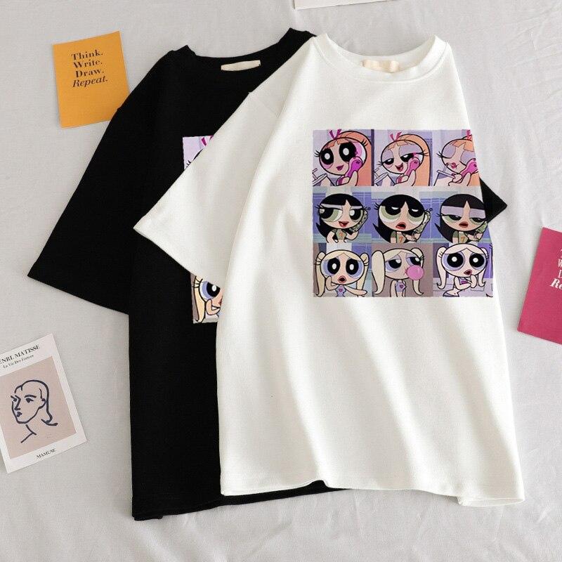 Summer-casual-Women-T-shirts-Ulzzang-Streetwear-kawaii-cartoon-print-Tshirt-Korean-Style-Tops-Harajuku-short (1)