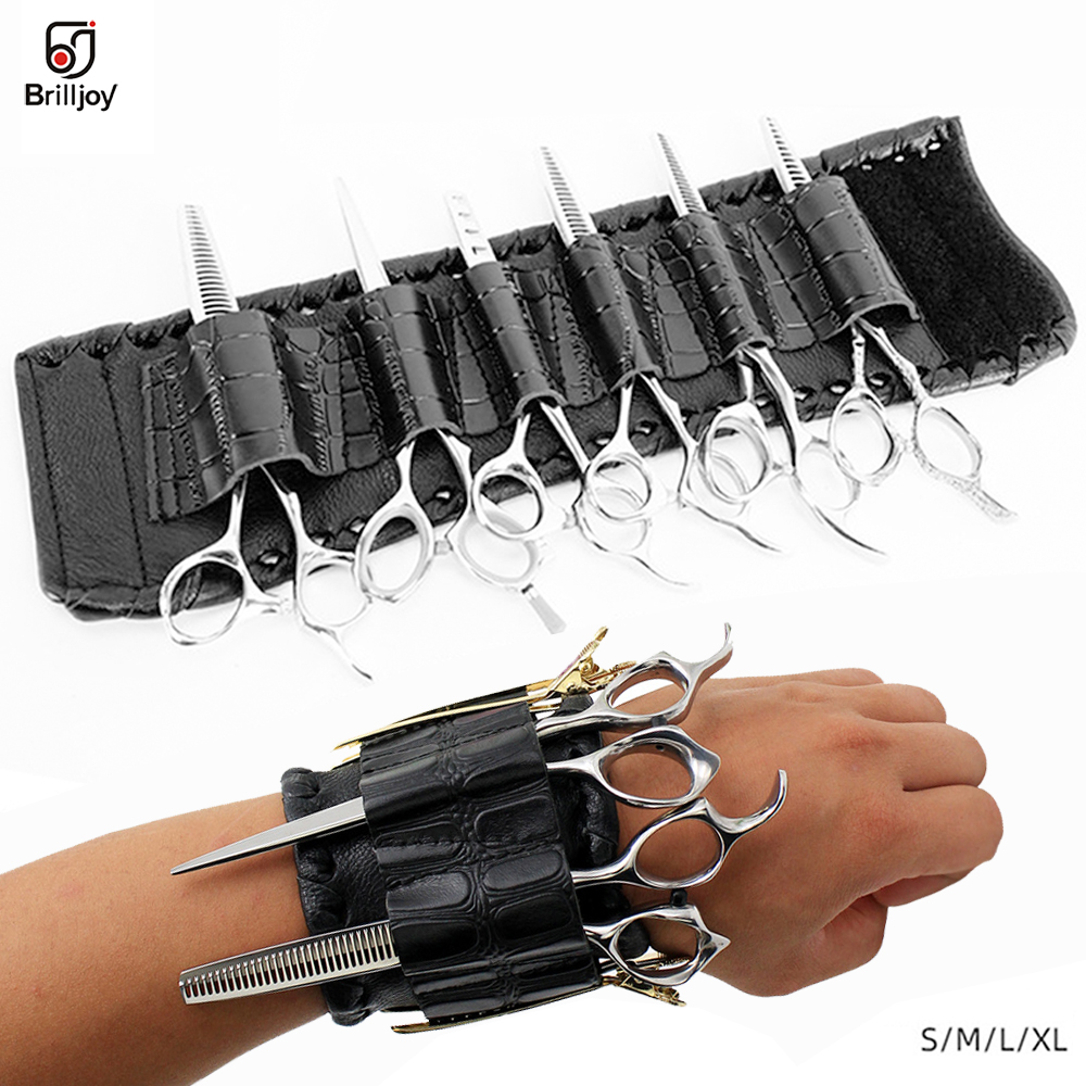Brilljoy New Hook And Loop Trend Hairdresser Wrist Bag Wristband Salon Barber Scissors Pouch Holder Case Storage Bracelet Bags