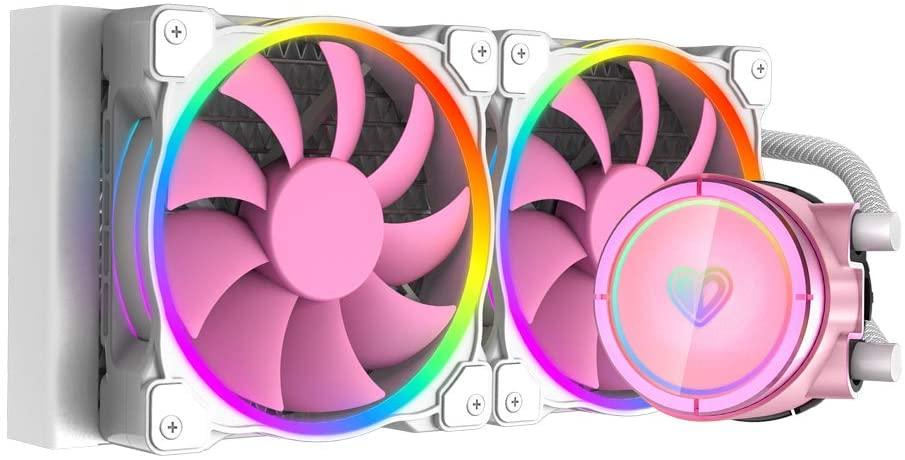 ID-охлаждение для ЦП PINKFLOW 240, Водяной кулер 5 В, Модифицируемый RGB AIO кулер 240 мм, охладитель жидкости для ЦП, RGB вентилятор, Intel 115X/2066, TR4/AM4