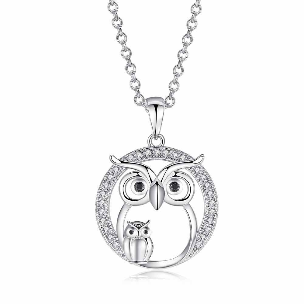 1Pcs Fashion New Owl Necklace Hollow Owl Necklace Pendant Cute Gift For Women