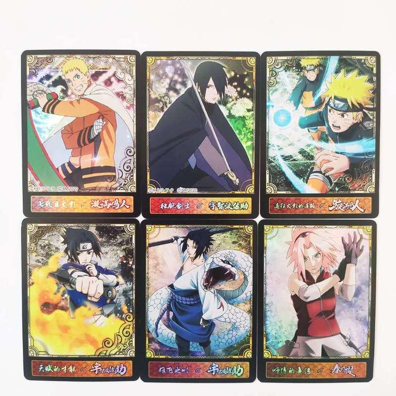 55pcs/set Naruto Uchiha Sasuke Uchiha ObitoJiren Splicing Card Game Action Toy Figures Commemorative Edition Collection Cards